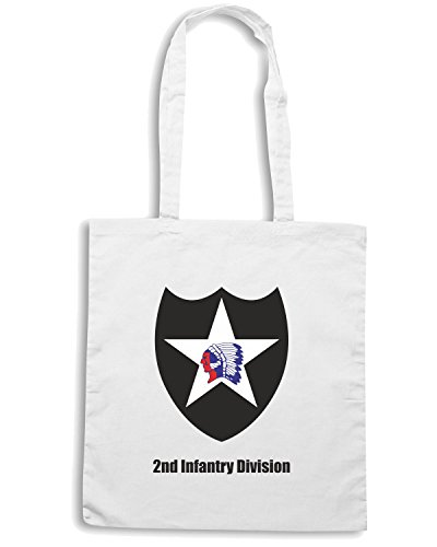 T-Shirtshock - Borsa Shopping TM0330 2nd Infantry Division usa Bianco