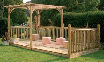 Timber Pergola & Patio Decking Kit OGD060