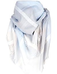 9b64ffb5eadb moonbow Maxi Foulard Carré Carreaux Bleu ciel - Foulard Femme