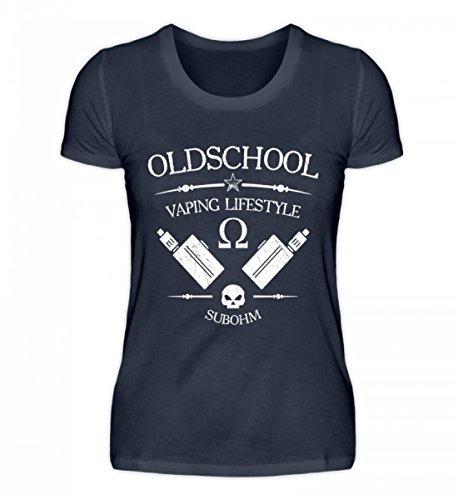 Shirtee Signore Di Alta Qualità Bio Oldschool Vaping Lifestyle - Vaporizzatore Vaporizer Vaporizzatore Cotone Blu Profondo