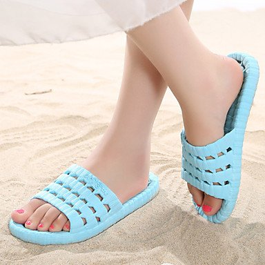 zhENfu donna pantofole & amp; flip-flops Estate Slingback PVC Casual tacco piatto altri blu / viola / Fucsia Altri Purple