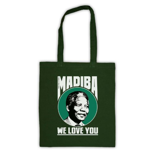Nelson Mandela Madiba We Love You-Borsa da shopping Verde scuro