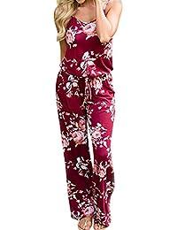 Amazon.es  flores rojas - Monos   Mujer  Ropa c2d5bc850421