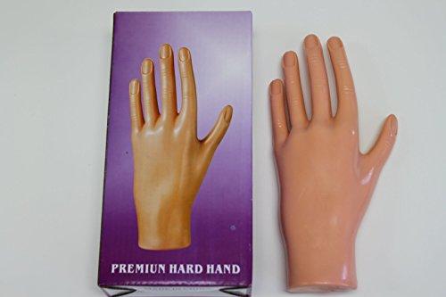 Debra Lynn Main d'entraînement avec doigts aux cuticules repoussées - Idéale pour s'entraîner à l'application d'ongles artificiels