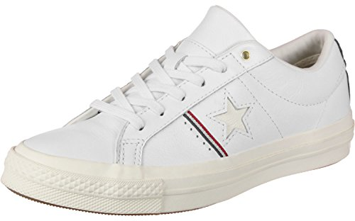 Converse One Star Ox Schuhe White/Red/Egret Converse One Frauen