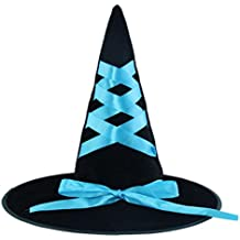 Ruban Ruban Robe Halloween Costume Party Up Sorcière Hat Tip Cap Cosplay-A3
