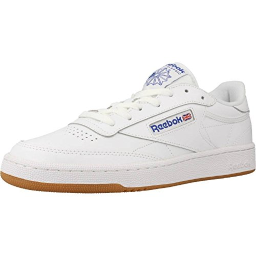 Reebok Club C 85, Scarpe Indoor Multisport Uomo, Multicolore (White/Royal/Gum), 43 EU