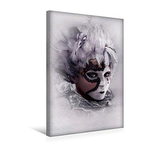 Premium Textil-Leinwand 30 cm x 45 cm hoch, Hinter der Maske | Wandbild, Bild auf Keilrahmen, Fertigbild auf echter Leinwand, Leinwanddruck (CALVENDO (Feen Maske)