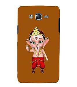 printtech Lord God Ganesha Back Case Cover for Samsung Galaxy J7 / Samsung Galaxy J7 J700F