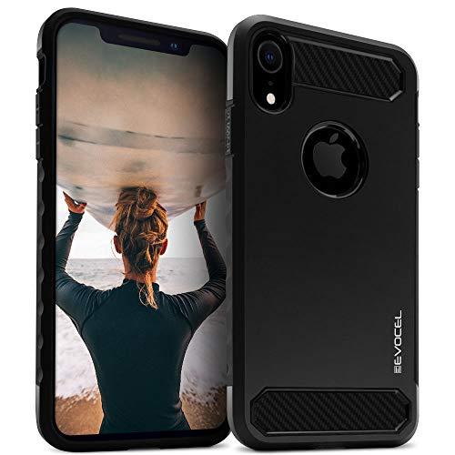 Evocel Schutzhülle für iPhone XR (Dual Lite-Serie) mit Einem dünnen, leichten Profil und Matter Oberfläche, schwarz - Telefono T-mobile