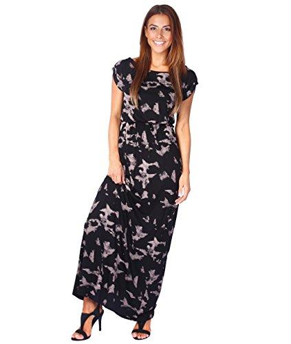 5081-NUD-14: Bodenlanges Jersey Sommerkleid (Zartrosa, Gr.42 /  Herstellergröße 14) Langen Ärmeln Kleid