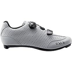 Fizik R3 UOMO BOA - Zapatillas de ciclismo de carretera, hombre, R3M-BC2010-16-45, blanco/negro, talla 45