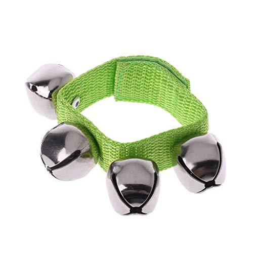 Guoyy Baby Handgelenk Armband Glocke Hand Rassel Kinder Tanzen Musik Werkzeug Pädagogisches Spielzeug (Grün) -