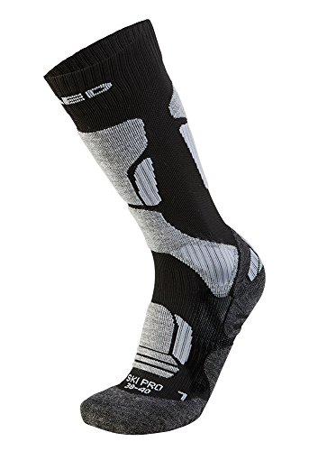 XAED - calzini da sci ergonomici, da donna, 35/37, colore nero / grigio
