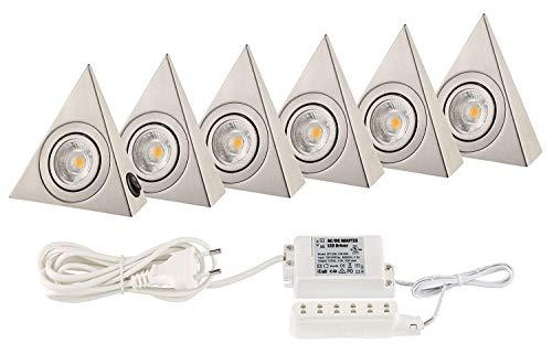 Küchenlicht Küchen Unterbauleuchten COB LED je. 160 Lumen - Basis Set mit SECHS Dreiecken 160 Lumen Led