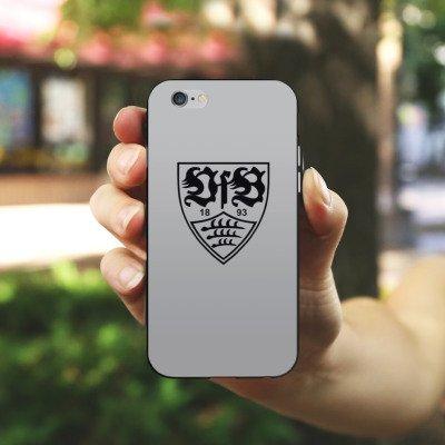 Apple iPhone 7 Hülle Case Handyhülle VfB Stuttgart Fanartikel Fußball Silikon Case schwarz / weiß