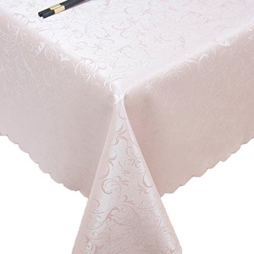 LULU LLH Präsidenten-Essentischdecke, beiläufige speisende Tischdecke, Plastiktischdecke, Viereck, Größe: 55.11 * 78.74inch (140 * 200CM) ZHUOB (Farbe : Pink)