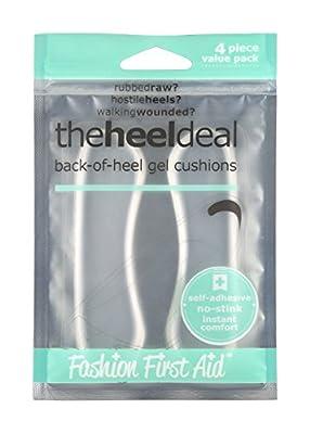 The Heel Deal: Back of Heel Gel Cushions, Clear, 2 Pair VALUE Pack