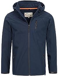 INDICODE Hommes Veste Softshell Charlie temps coupe-vent Veste Light Outdoor Veste à capuche veste d'hiver 5055 S M L XL