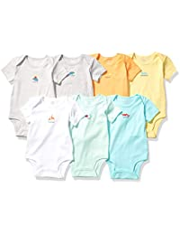 Amazon Essentials 7-Pack Short-Sleeve Bodysuits Unisex-Bimbi 0-24