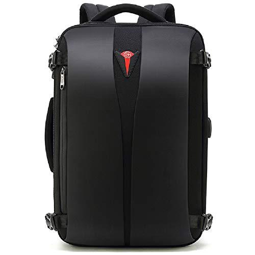 Preisvergleich Produktbild HWYP Herrenrucksack Business Tablet Laptoptasche bis 17, 5 Zoll Schulrucksack Wasserabweisend Lässig Daypack für Frauen Arbeiten Reise Outdoor Sports Camping-Black