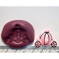 Stampo in Silicone per torta a forma di carrozza da principessa & glassa, Cupcake e torte
