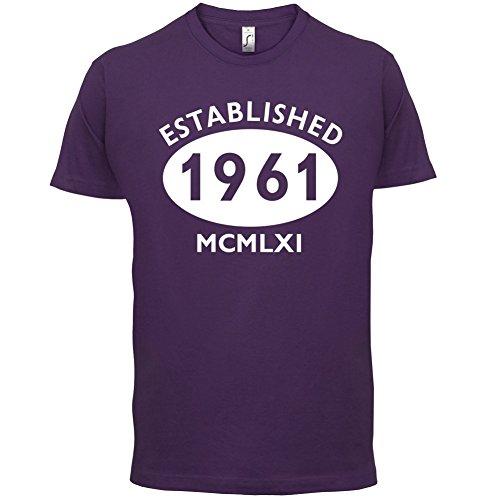 Gegründet 1961 Römische Ziffern - 56 Geburtstag - Herren T-Shirt - 13 Farben Lila