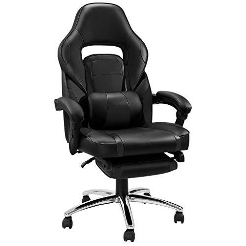 LANGRIA Schreibtischstuhl Gaming Stuhl Kunstleder Chefsessel Computer Spiel Stuhl Buerostuhl Racer