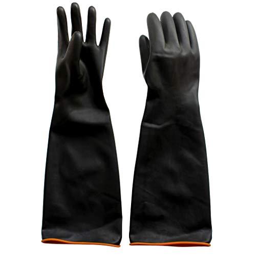 Naturgummilatex Handschuh Anelku Industrie Anti Chemische Säure Alkali Gummihandschuhe 55cm-22inch
