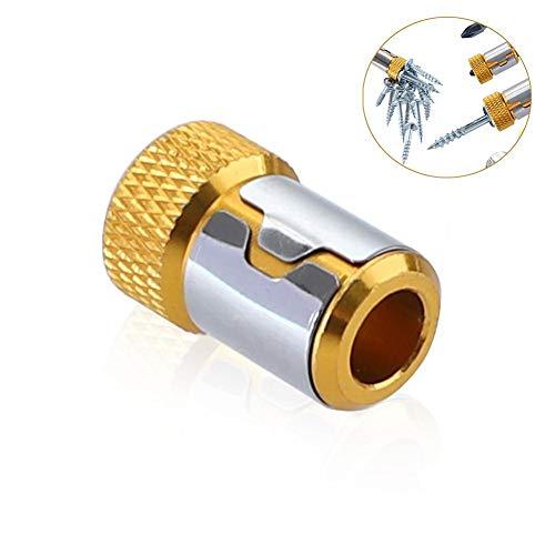 kardu.c Schraubendreher-Magnetring - Magnet-Aufnahmewerkzeug, 1/4'6,35-mm-Schraubendreher-Bits Zubehör Starker Magnetisierer
