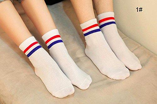 n die beiden Polen Geruch absorbierenden Socken Bunte Streifen gestreift Socken Stecker Sport mitte Socken 1# 1# (Zeigen Weniger Socken)