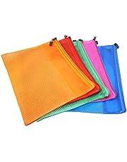SEPAL 5 Pieces B5 Paper Size Transparent Plastic Pouch Zipp