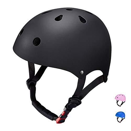 SKL Skaterhelm Jungen, Helme für Skateboarding, Sporthelm für Kinder, Inline Helm für Jungen/Mädchen, Skateboard Helm für Skates/Fahrrad