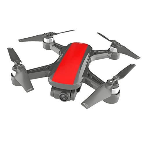 Sixcup® C-Fly Dream GPS WiFi FPV Mit 2-Achsen Gimbal 1080P HD Kamera Optischer Fluss Drone RC Quadcopter mit Schwebefunktion & Kopflosmodus für Anfänger Navigator Drohne für Kinder (RED)