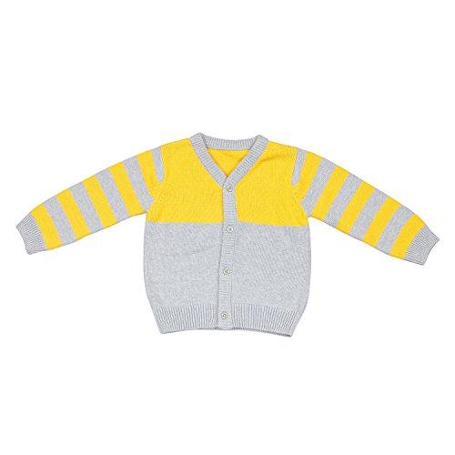 Classy Kids Baby Boys' Sweater (SW-CK-9_Yellow_6-12 months)