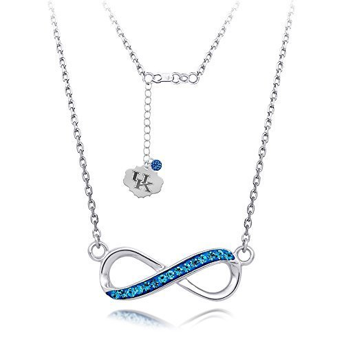 university-of-kentucky-infinity-necklace-with-18-sterling-silver-necklace-crystals-by-midas-chain