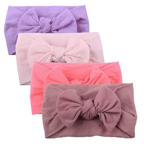 Huhu833 Baby Stirnbänder, Cute Baby Kleinkind Infant Circle Stirnband Stretch Haarband Headwear (4 Pcs E)