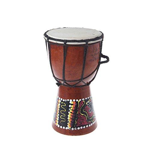 LLLucky 20 cm Afrikanische Djembe Trommel Handgemalte Hölzerne Geschnitzte Djembe Trommel Kinder Holz Instrument Hauptdekorationen Trommel (Trommel 20 Afrikanische)