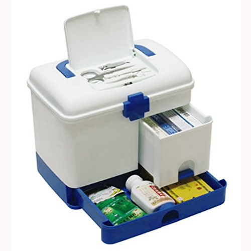 MAJOZ Medizinschränke, Medizinbox Abschließbar mit Getrennten Fächer Medikamentenbox Aufbewahrungsbox mit Griff für Küche Schlafzimmer- Grün