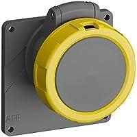 ABB 216ERU4W IP67 2P+E - Toma de corriente en ángulo para panel, plástico, color amarillo