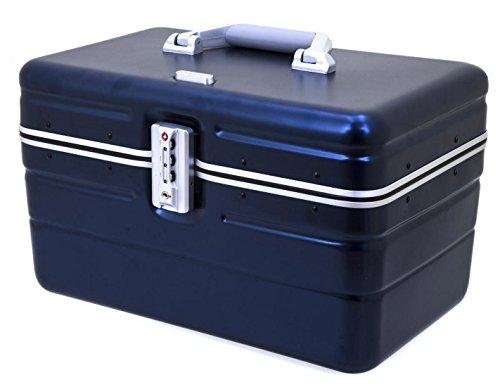 DAVIDT´S Beauty Case - Hartschale - hardcase- 38x25x26 cm - 1,3kg - 17Liter - Aufsteckmöglichkeit auf Trolley - div. Farben (blau)