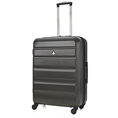 "Aerolite Medium 25"" Super Lightweight ABS Hard Shell Travel Hold Check In Luggage Suitcase with 4 Wheels"