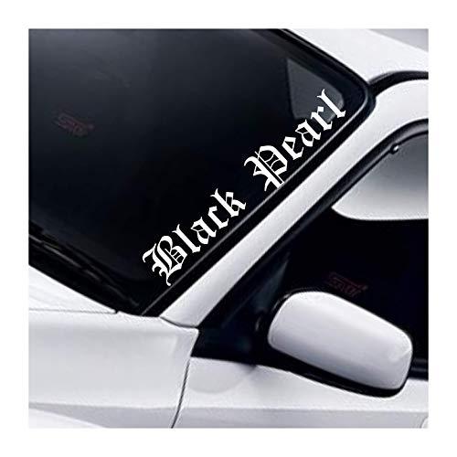 38k Vinyl Black Pearl Frontscheiben Aufkleber Windschutzscheibe Frontscheibe AutoAufkleber Lowered Daily Tuning Frontscheibenaufkleber