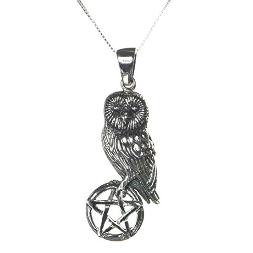 Sterling Silver Pentagram Star Pendant 42mm with Chain