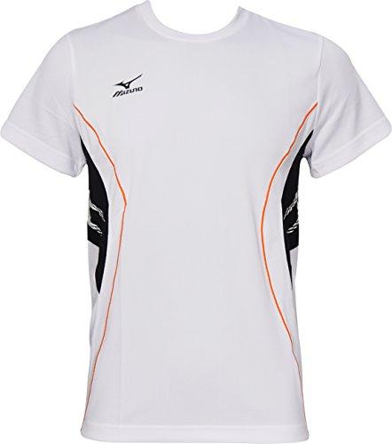 Mizuno Team Short Sleeve Mens Running Top -White