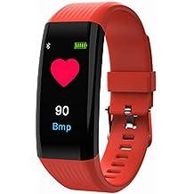 06e1ab54b3e8 VEHOME Pulsera de Actividad Inteligente Reloj-Pulsera Elegante del Ritmo  cardíaco del Color B06-