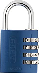 ABUS Aluminium-Zahlenschloss 145/40, blau, 48807