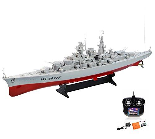 Original 1:360 Bismarck XXL RC ferngesteuertes Schlachtschiff Schiff-Modell Kriegsschiff Modellbau, Ready-To-Run ,Komplett-Set Inkl. Zubehör