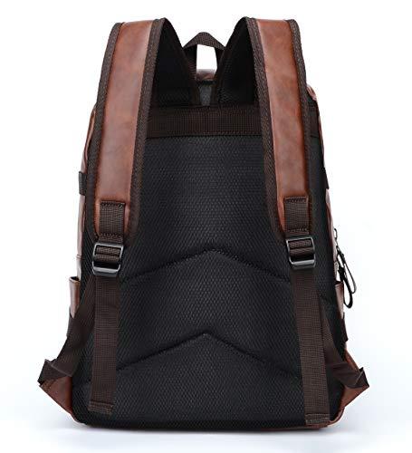 Best Fur Jaden Brown Backpack Bag for Men of Artificial Leather with Laptop Pocket Online 2020 Image 6