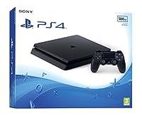 Sony PlayStation 4 Slim 500GB. Plateforme: PlayStation 4, Couleur du produit: Noir, Mémoire interne: 8192 Mo. Supports de stockage: Disque dur, Capacité de stockage interne: 500 Go, Lecteur optique: Blu-Ray/DVD. LAN Ethernet : taux de transfert des d...